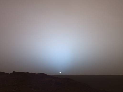 Sunset on Mars